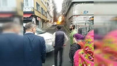 Fatih'te doğalgaz borusu patladı, vatandaş sokağa döküldü