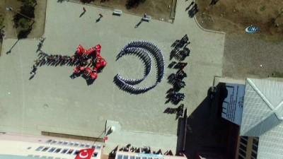 Malazgirtli öğrencilerden Mehmetçiğe 'Ayyıldızlı' destek
