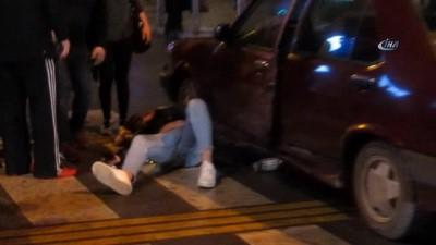 Ters yöne girdiği yolda otomobilin altında metrelerce sürüklendi... Olay saniye saniye böyle görüntülendi