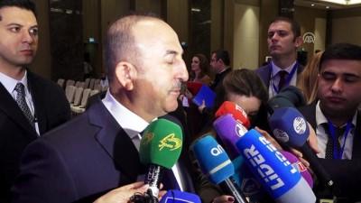 Bakan Çavuşoğlu: 'İran, Bakü-Tiflis-Kars Demir Yolu'na bağlanmak istiyor' - BAKÜ