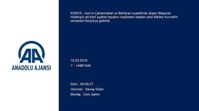 İran'da düşen özel Türk uçağı - Kaptan pilot Kuvvet'in cenazesi Konya'ya getirildi