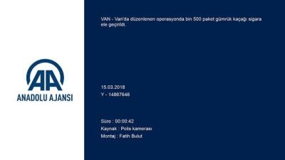 Kaçak sigara operasyonu - VAN