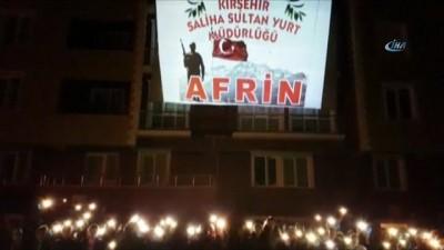 KYK yurtları Afrin için aydınlandı