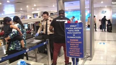 Atatürk Havalimanı'nda kaçak yolculara sirenli önlem