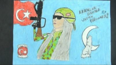 """Sultangazili öğrenciler """"Hayalindeki polisi"""" çizdi"""