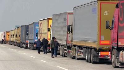 Avrupa'ya açılan sınır kapılarında tır kuyruğu - EDİRNE
