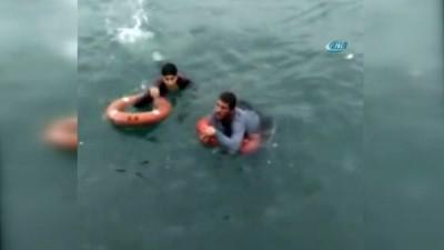 Denizde can pazarı kamerada...Boğulmaktan son anda kurtarıldı
