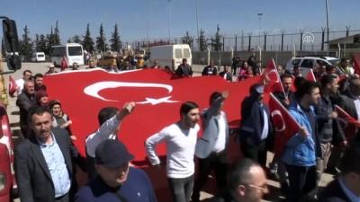 Şehit ve gazi ailelerinden Zeytin Dalı Harekatı'na destek - KİLİS