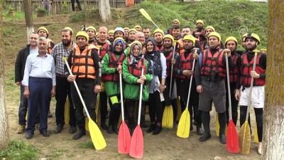 Raftingcilerden Çanakkale duyarlılığı - DÜZCE