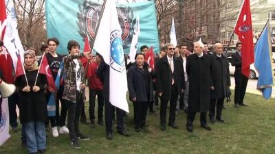 Türkmen Dostluk Hareketi Derneğinden saygı yürüyüşü