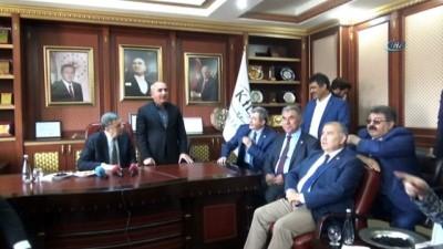 sehadet -  Parlamenterler Birliği yönetim kurulu Belediyeyi ziyaret etti