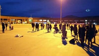 SDÜ öğrencilerinden mum ışıklarıyla 'Dur yolcu' mesajı