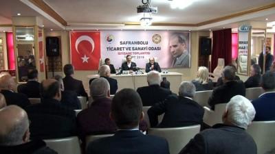 TOBB Başkanı Hisarcıklıoğlu Safranbolu TSO'da istişare toplantısına katıldı