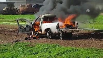 YPG/PKK'lı teröristler çocukların bulunduğu araca tanksavarla saldırdı (2) - CİNDERES/HATAY