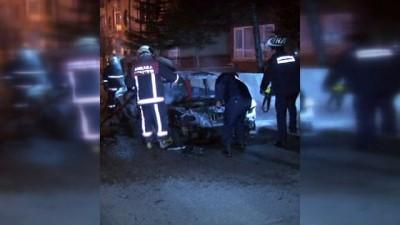 Başkent'te araç kundaklama iddiası