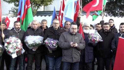 Kopenhag Büyükelçiliğine düzenlenen saldırıyı protesto