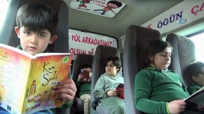Okul servisçisinden örnek proje... Servis aracını sınıf gibi dekore etti Video