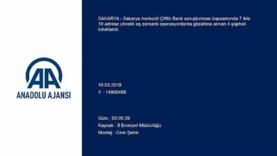 Sakarya merkezli 7 ildeki 'Çiftlik Bank' soruşturması