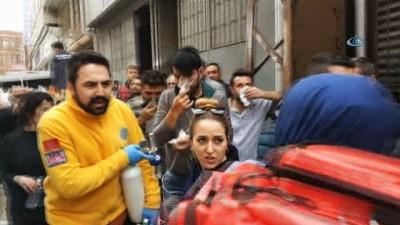 Samsun'da koltuk imalathanesinde yangın: 6 kişi hastanelik oldu