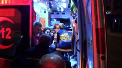 Aydın'da yangın paniği... Yanan evin sakinleri itfaiye merdiveni ile son anda kurtarıldı