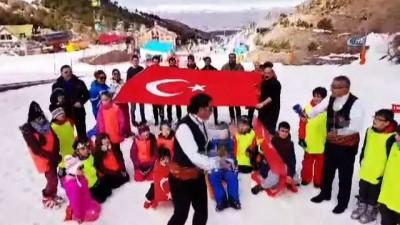 Dadaşlardan Palandöken'de 'Bir gece Afrin'e girebiliriz' türküsü