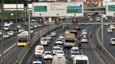 Haliç'te trafiği kilitleyen kaza: 2 yaralı