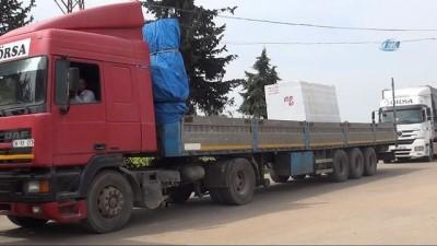 Suriye'ye motorin ve mermer taşı ihracatı