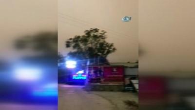 Bodrum'da fırtına...İş yerlerinin çatısı uçtu, ağaçlar devrildi