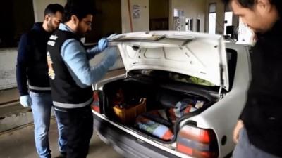 Otomobil bagajında yavru köpekler yakalandı - EDİRNE