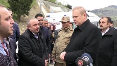 Polis aracı dereye devrildi - Vali Yavuz'un açıklaması - TRABZON