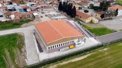 Gerenköy'e özel salon...Yapımı devam eden salon havadan görüntülendi