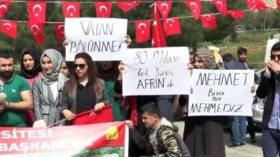 Öğrencilerden Zeytin Dalı Harekatı'na destek - DİYARBAKIR