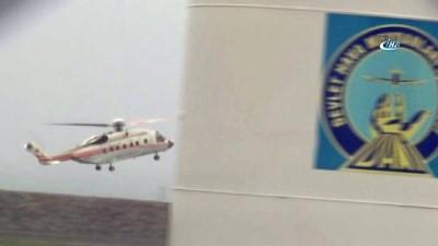 Cumhurbaşkanı Erdoğan'ı taşıyan helikopter Ordu'ya indi