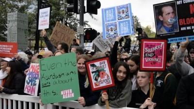 Amerika genelinde yapılan 'Yaşamlarımız İçin Yürüyüş' etkinliği Los Angeles'ta da gerçekleşti