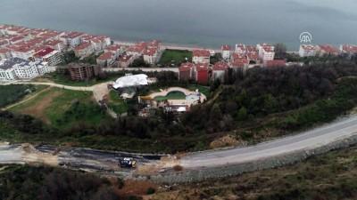 Çınarcık'ta toprak kayması yaşanan bölge havadan görüntülendi - YALOVA