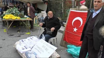 Diyaliz hastası pazar esnafı, bir günlük gelirini Afrin'deki Mehmetçiğe bağışladı