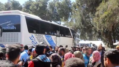 rejim karsiti - Doğu Guta'dan ayrılan beşinci konvoy Hama'ya vardı