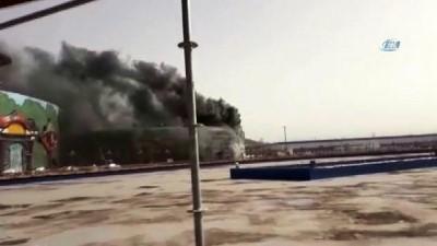 İnşaat halindeki Ankapark'ta yangın