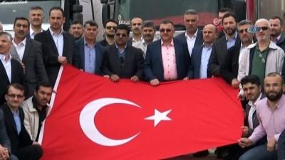 Kayseri'nin 349'uncu Tırı Kilis'e ulaştı