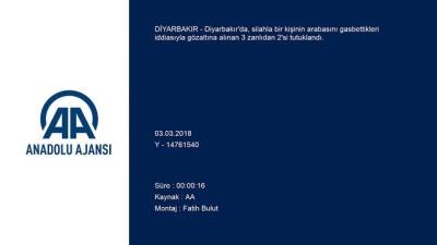Otomobili gasbeden 2 zanlı tutuklandı - DİYARBAKIR