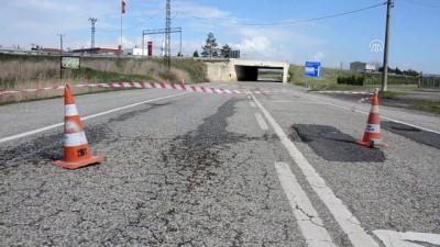 Sağanak nedeniyle bazı yollar trafiğe kapandı - TEKİRDAĞ