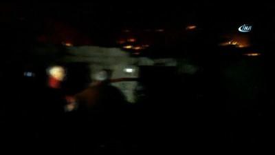 Samsun'da bir ev alevlere teslim oldu