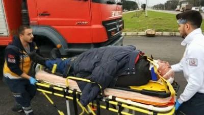 Maça giderken kaza geçirdiler: 1'i ağır 2 yaralı