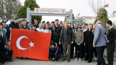 Lise öğrencilerinden Afrin'deki askerlere mektup