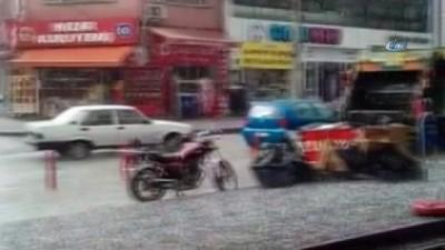 Kırıkkale'de dolu yağışı etkili oldu