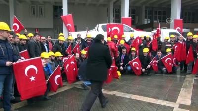 Maden işçilerinden, Zeytin Dalı Harekatı'na destek - ZONGULDAK