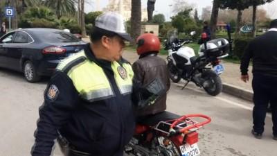 Trafik polisinden tabletli denetim