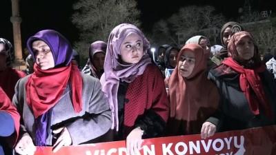 'Vicdan Konvoyu'na Aksaray'dan destek