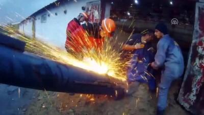 Bacağını iş makinesine kaptıran işçi tedavi altına alındı - BOLU