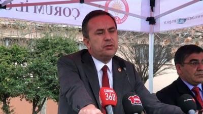 Çorum'da Afrin şehitleri için kurban kesilerek mevlit okutuldu